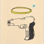 pistola con l'aureola